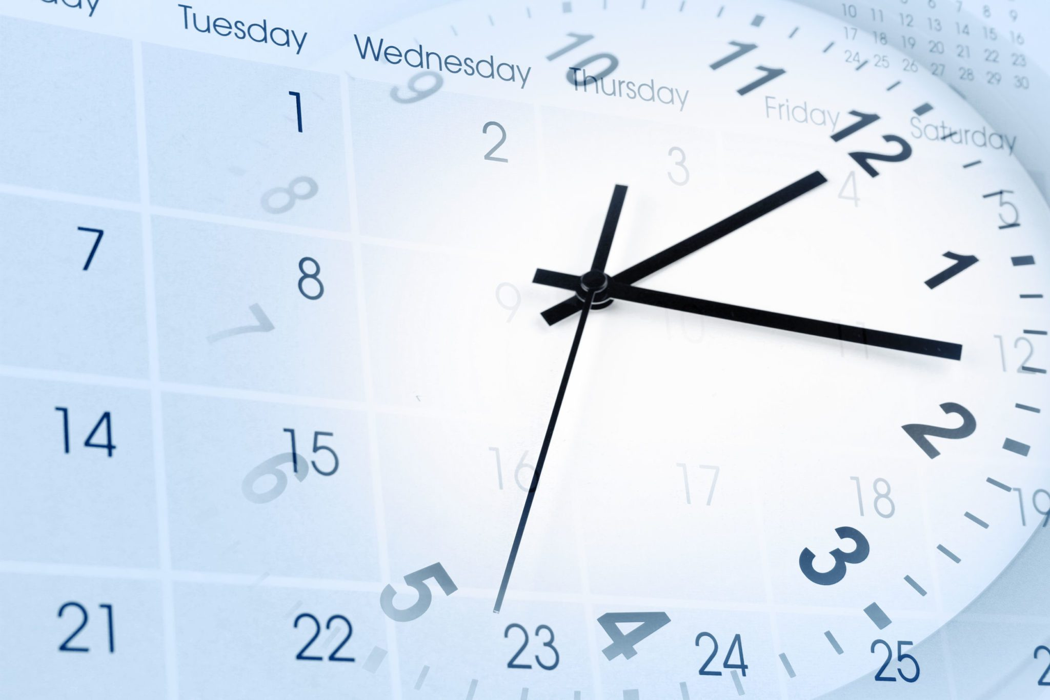 A concept piece of a calendar and a clock combined.